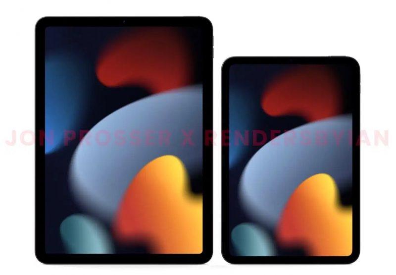 Nykyinen iPad Air vs. tuleva iPad mini. Kuva: Front Page Tech / Jon Prosser ja RendersByIan.