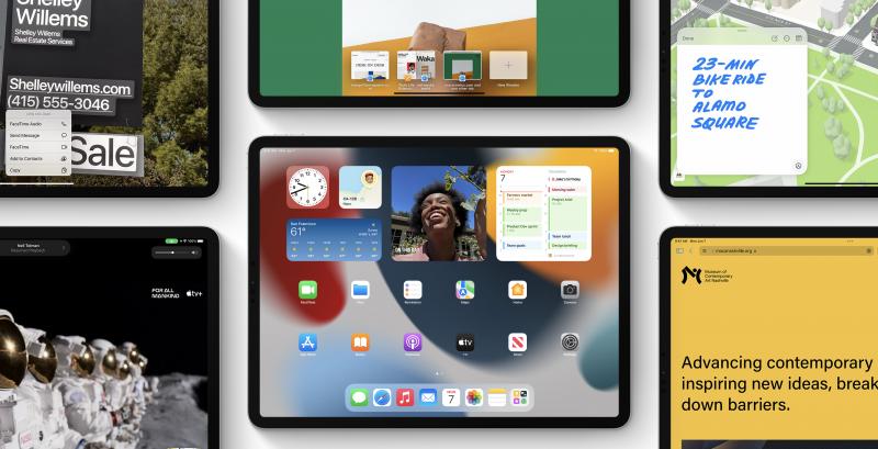 iPadOS 15 tuo widgetit kotinäkymään, uudistuksia moniajoon ja QuickNote-muistiinpanot.