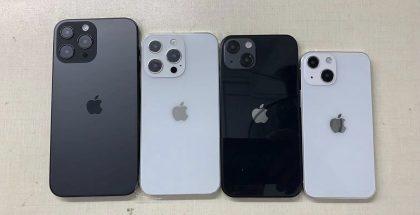 Nämä iPhone 13 -mallikappaleet kertovat karkealla tasolla suuremmista kamera-alueista ja kameroiden sijoittelusta. Kuva: Sonny Dickson / Twitter.