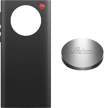 Leica-puhelimen suojakuori ja magneettisesti kiinnittyvä linssinsuojus.