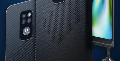 Motorola Defyn varustukseen kuuluu myös kantohihna.