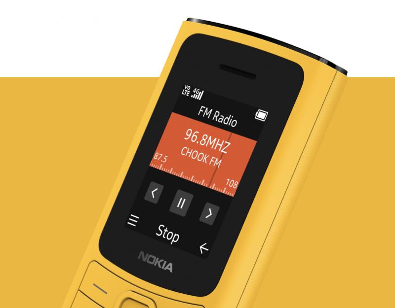 FM-radio Nokia 110 4G:ssä.