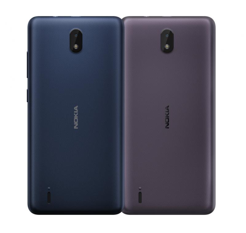 Nokia C01 Plussan värivaihtoehdot.