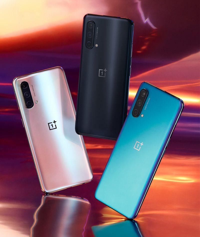OnePlus Nord CE 5G:n värivaihtoehdot.