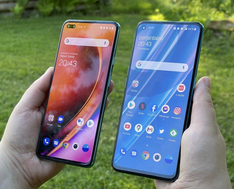 Vasemmalla OnePlus Nord, oikealla OnePlus Nord CE 5G.