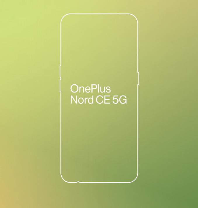 OnePlus Nord CE 5G:n muotoilun ääriviivat.