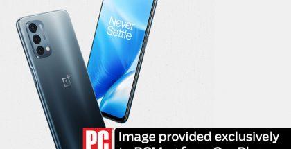 OnePlus Nord N200 5G. ONePlussan PCMag-sivustolle toimittama kuva.