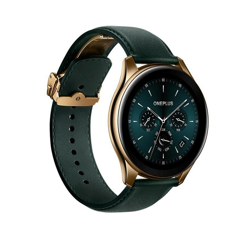 OnePlus Watch Cobalt Limited Edition eroaa niin rungoltaan, lasiltaan kuin rannekkeeltaan perusversioista.