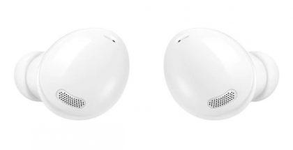 Samsung Galaxy Buds Pro -kuulokkeet valkoisena.
