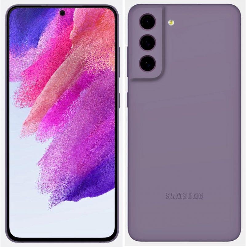 Samsung Galaxy S21 FE violettina. Kuva: Evan Blass / Twitter.