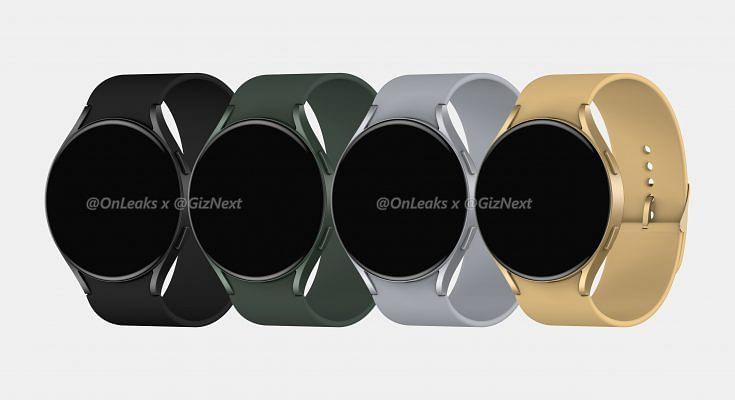 Samsung Galaxy Watch Active4:n eri värivaihtoehdot. Kuva: OnLeaks / GizNext.
