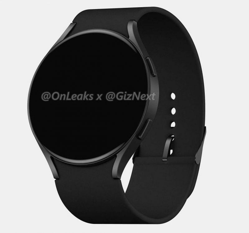 Samsung Galaxy Watch Active4. Kuva: OnLeaks / GizNext.