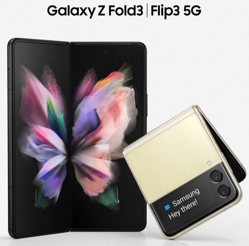 Samsung Galaxy Z Fold3 ja Galaxy Z Flip3. Kuva: Evan Blass / Twitter.