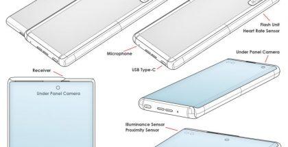 Samsungin patentti esittelee rullautuen laajenevalla näytöllä varustettua puhelinta. Kuva: LetsGoDigital.