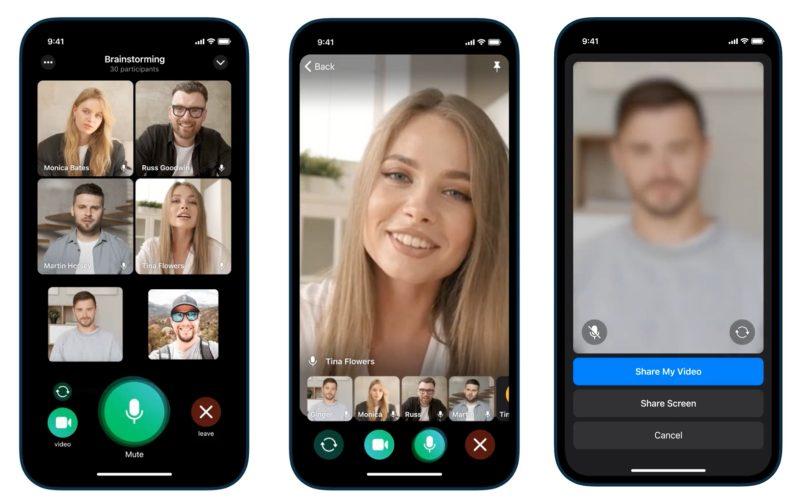 Ryhmävideopuhelut ovat päivityksen myötä nyt osa Telegramia.