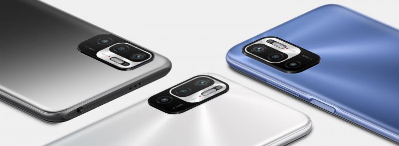Näissä väreissä Redmi Note 10 5G tulee myyntiin Suomessa.