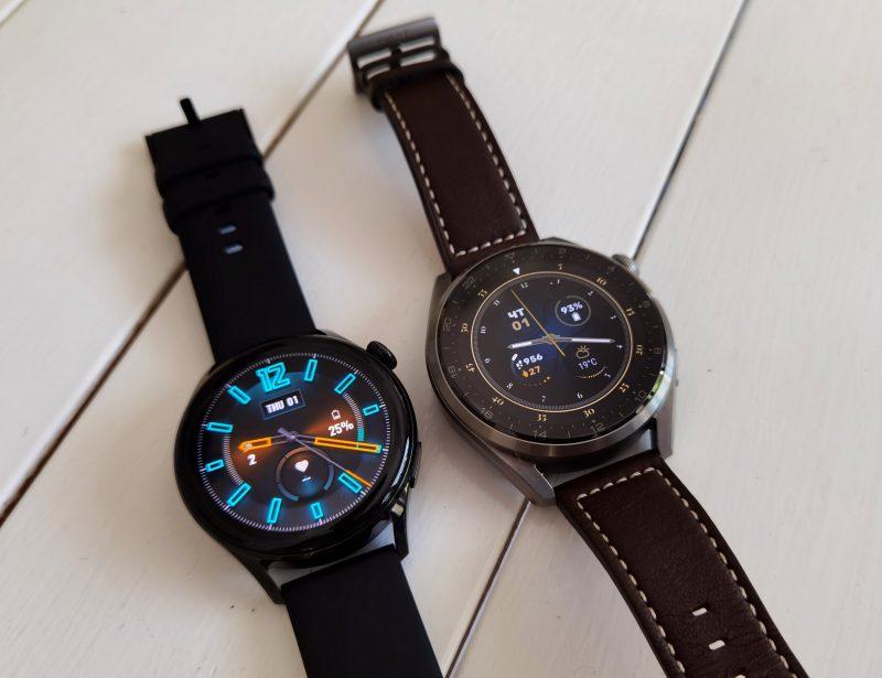 Huawei Watch 3 julkaistaan silikonisella, Watch 3 Pro taas nahkaisella rannekkeella.
