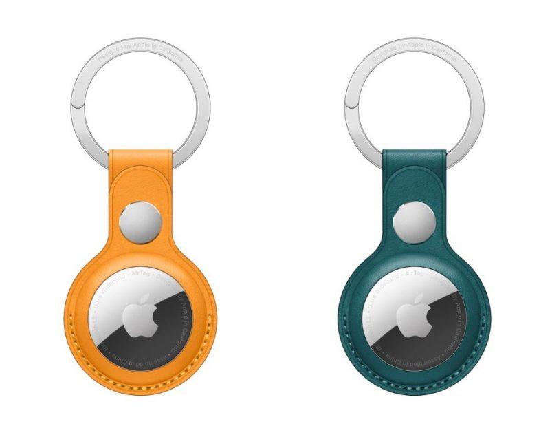 Nahkaisen AirTag-avaimenperän uudet värivaihtoehdot - tuliunikko ja metsänvihreä.