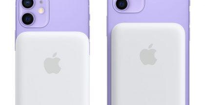 MagSafe-lisäakku iPhone 12 minin ja iPhone 12:n kanssa.