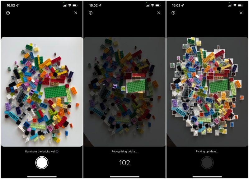 Brickit-sovellus tunnistaa Lego-palikat kamerakuvasta.