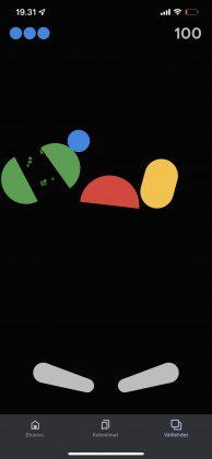 Google Haku -sovelluksesta löytyvä flipperipeli.