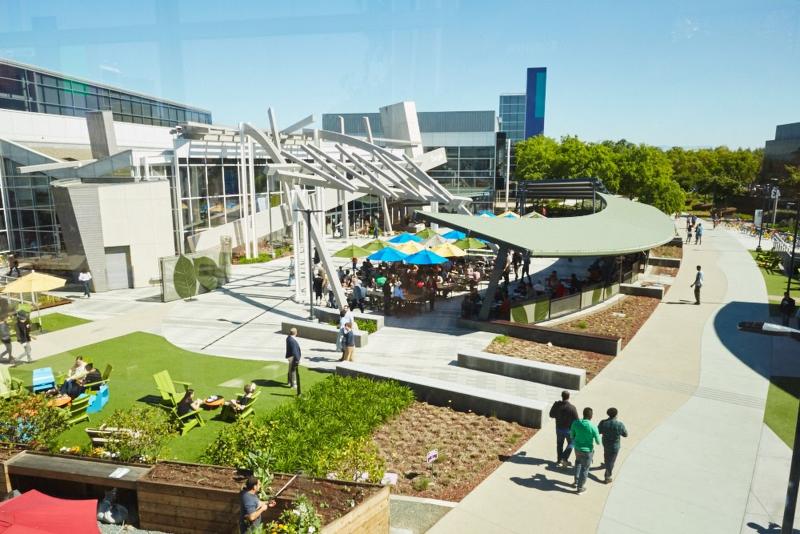 Googlen pääkonttori Kalifornian Mountain View'ssä.