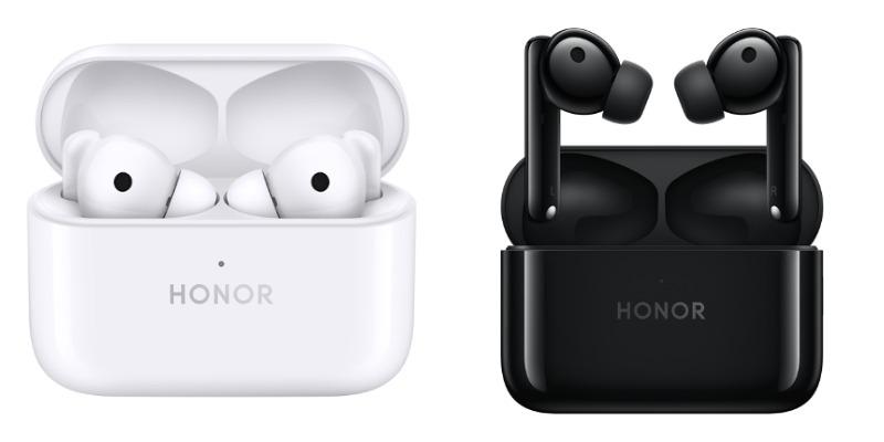 Honor Earbuds 2 Lite -kuulokkeiden värivaihtoehdot ovat valkoinen Glacier White sekä musta Midnight Black.