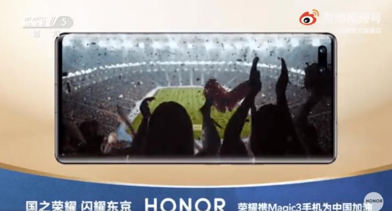 Honor Magic3 mainoskuvassa.