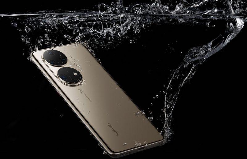Huawei P50 -sarjassa on tarjolla myös vedenkestävä rakenne.