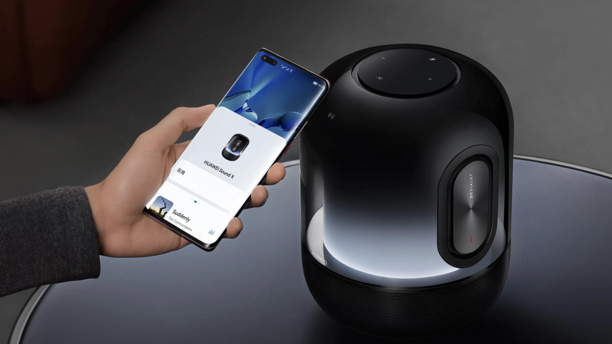Huawei Sound X 2021 tukee kosketustoimintoja.