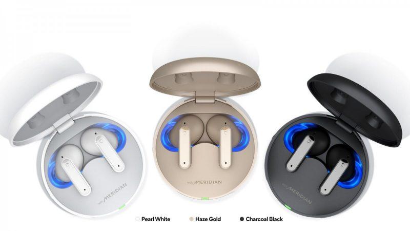 LG Tone Free DFP8W -kuulokkeiden eri värivaihtoehdot.