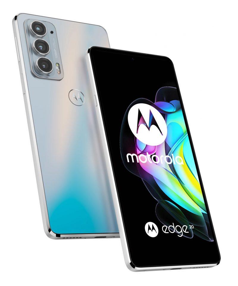 Motorola Edge 20, Frosted White.
