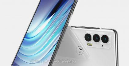 Motorola Edge 20:n mallinnos. Kuva: OnLeaks / Pricebaba.