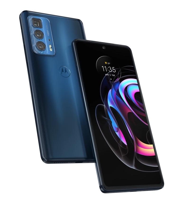 Motorola Edge 20 Pro, Midnight Blue.
