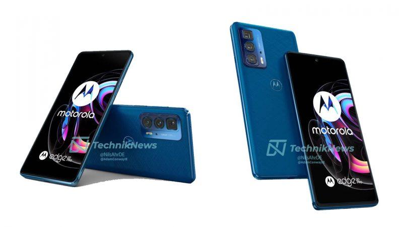 Motorola Edge 20 Pro, Blue Vegan Leather. Kuva: TechnikNews.