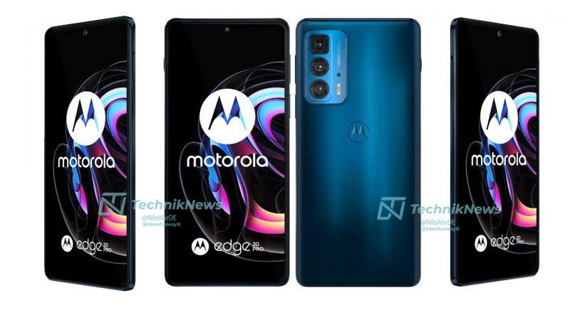 Motorola Edge 20 Pro, Midnight Blue. Kuva: TechnikNews.