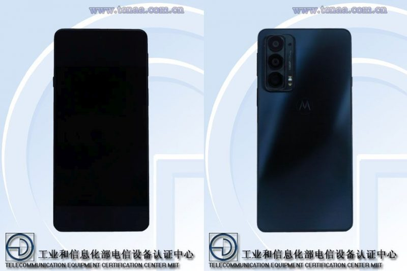Motorola Edge 20 TENAAn kuvissa.