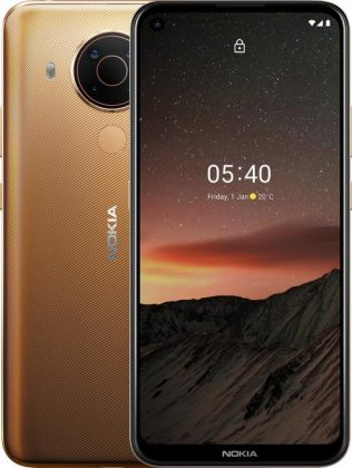 Nokia 5.4:n uusi väri Hiekka / Sand.