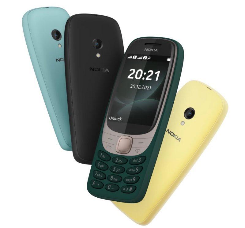 Uusi Nokia 6310 muistuttaa muotoilultaan takavuosien alkuperäistä Nokia 6310 -puhelinta.