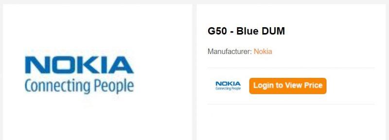 Nokia G50 on jo listattu jälleenmyyjän verkkosivuille.
