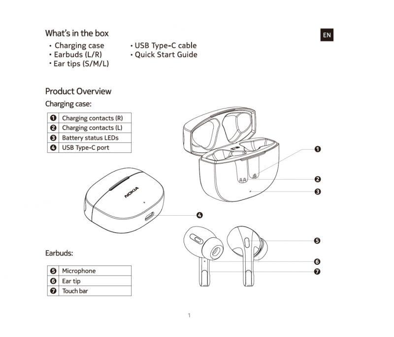 Nokia Go Earbuds+ -kuulokkeet tukevat myös kosketustoimintoja.