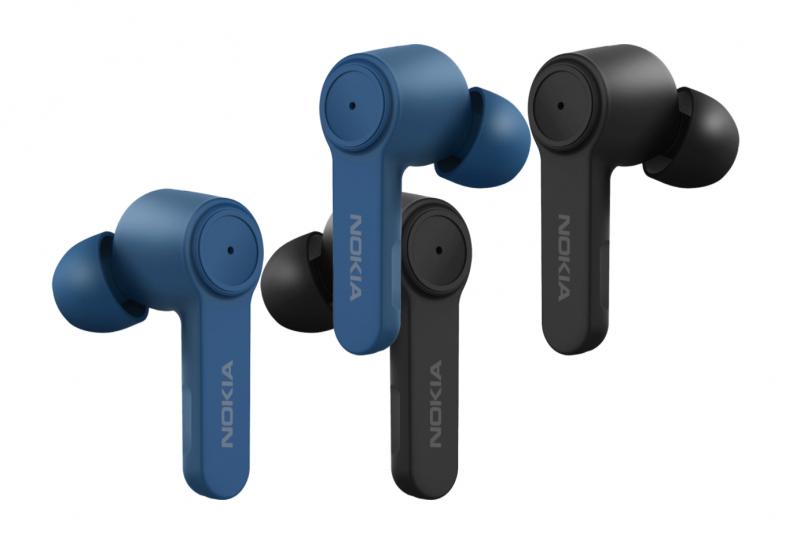Nokia Noise Cancelling Earbuds -kuulokkeiden värivaihtoehdot ovat sininen Polar Sea ja musta Charcoal.