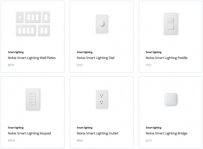 Eri Nokia Smart Lighting -tuotteet.