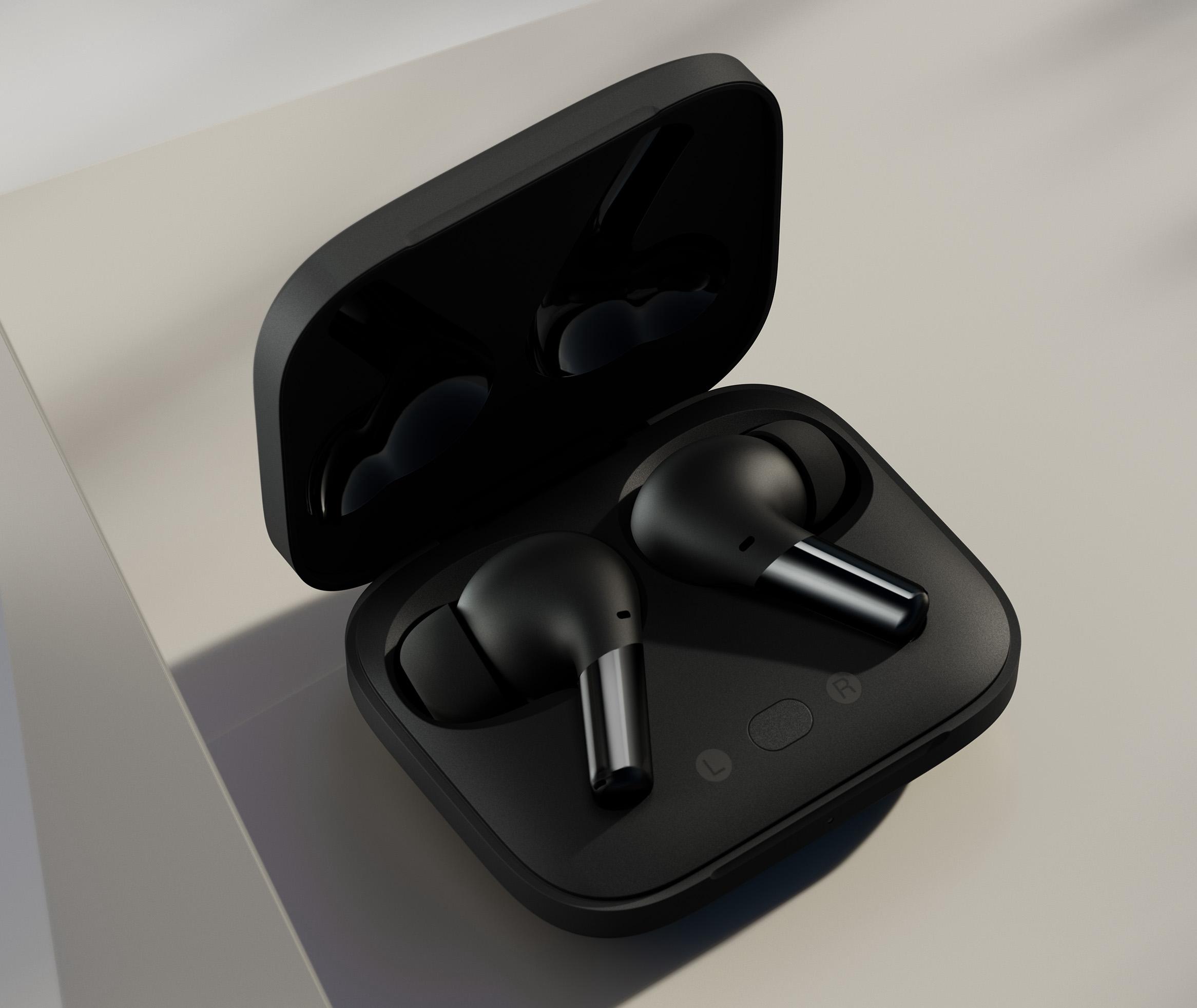 OnePlus Buds Pro -kuulokkeiden latauskotelo tukee pikalatausta sekä myös langatonta latausta.