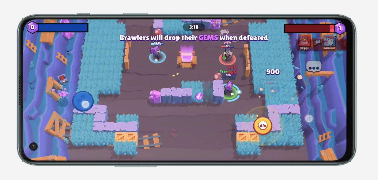 Supercellin Brawl Stars on yksi 90 hertsin virkistystaajuutta OnePlus Nord 2 5G:llä tukevista peleistä.