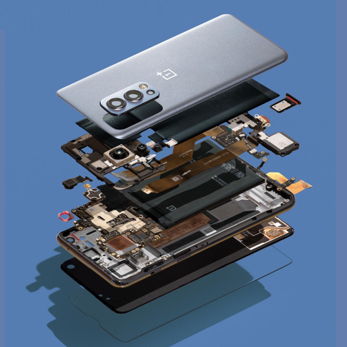 OnePlus Nord 2 5G:n rakenne.