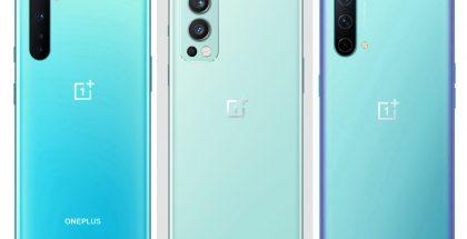 Vasemmalla OnePlus Nord, keskellä OnePlus Nord 2 5G ja oikealla OnePlus Nord CE 5G. Kuvat eivät mittakaavassa keskenään.
