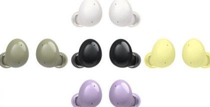 Samsung Galaxy Buds2 -kuulokkeet eri väreissä. Kuva: XDA Developers.