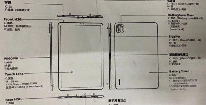 Xiaomin K82-mallikoodin tablettilaitteen piirroskuva.