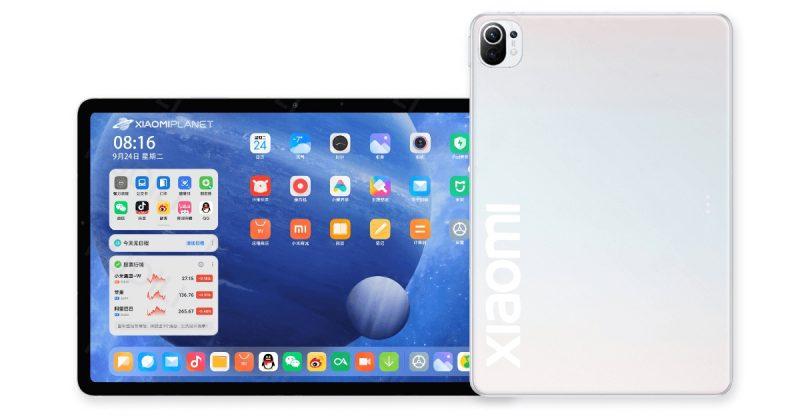Mallinnoskuva uudesta Xiaomi-tabletista.